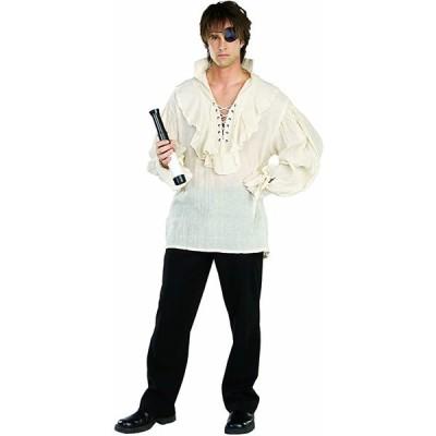 Rubie's アダルト パイレーツ シャツ, ホワイト, X-ラージ コスチューム(海外取寄せ品)