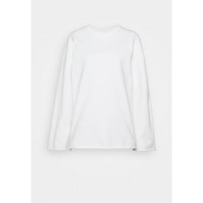マルタンマルジェラ レディース パーカー・スウェットシャツ アウター Sweatshirt - white white