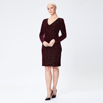アリエラ ロンドン Ariella London レディース パーティードレス ワンピース・ドレス Ariella Rossalyn Sequin Velvet Dress BURGUNDY