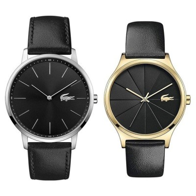【ペアBOXプレゼント!】LACOSTE ラコステ ペアウォッチ シルバー/ゴールド ブラック レザー 20110162001041 あすつく 腕時計