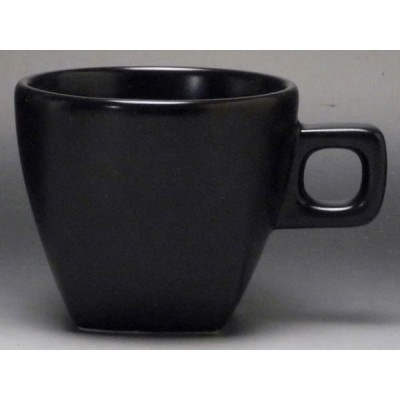 【B級品】スクエア(黒) デミタスカップ [普段使いの食器]
