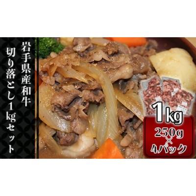 1424 【岩手県産和牛】切り落とし1kgセット(250g×4パック)