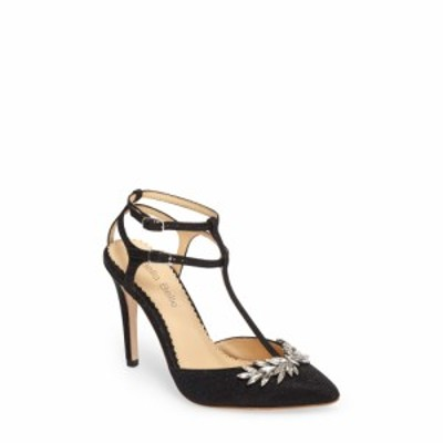 ベラベル BELLA BELLE レディース ヒール シューズ・靴 Payge Embellished T-Strap Pump Black Fabric