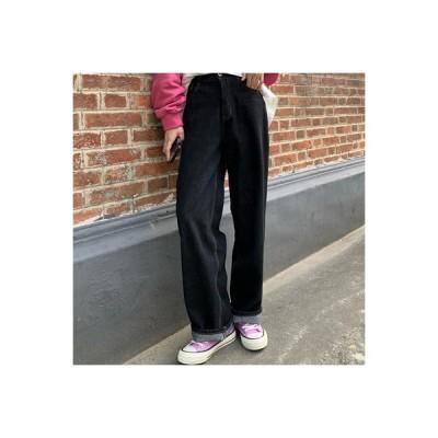 【送料無料】秋冬 韓国風 ブラック ルース ハイウエスト 何でも似合う スカート ス | 346770_A64004-4168690