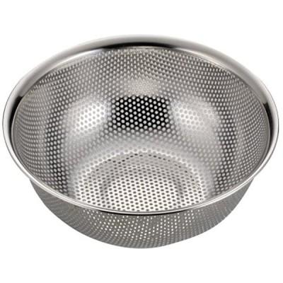 アクアシャイン ステンレス製 パンチ ボール型 ザル 21cm[H-9131]