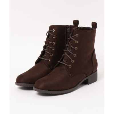Xti Shoes / 心地よい定番 細足見せ シンプル編み上げショートブーツ WOMEN シューズ > ブーツ