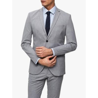 セレクテッドオム ジャケット&ブルゾン メンズ アウター SELECTED HOMME Slim Fit Suit Jacket, Light Grey