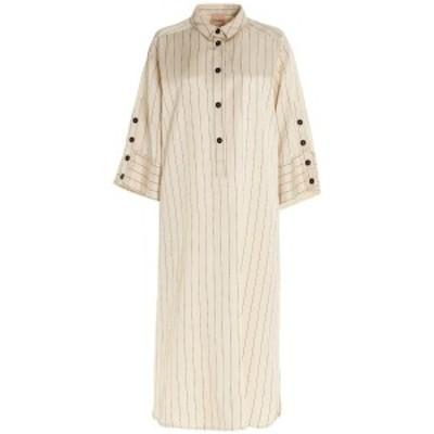 NUDE/ヌード Beige Pinstriped shirt dress  レディース 春夏2021 1103501271 ju