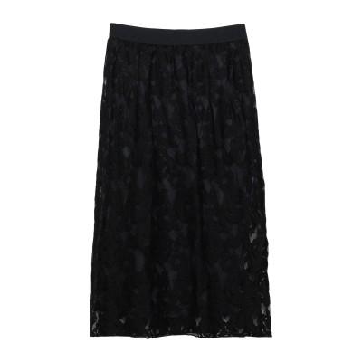 ツインセット シモーナ バルビエリ TWINSET ひざ丈スカート ブラック 38 コットン 48% / ナイロン 33% / レーヨン 19% /