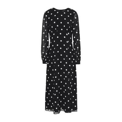 8 by YOOX ロングワンピース&ドレス ブラック 38 ポリエステル 100% ロングワンピース&ドレス