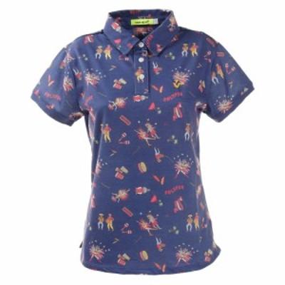 ビバハート(VIVA HEART)ゴルフウエア ポロシャツ レディース カーニバル柄ポロシャツ 012-22443-098(L…
