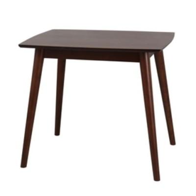 クロシオ ユーリ ダイニングテーブル80R(ブラウン)  5089 【返品種別A】