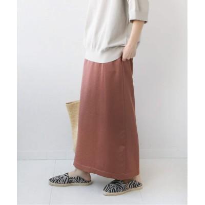 レディース ジャーナルスタンダード レリューム サテンバックスリットIラインスカート◆ ブラウン 36