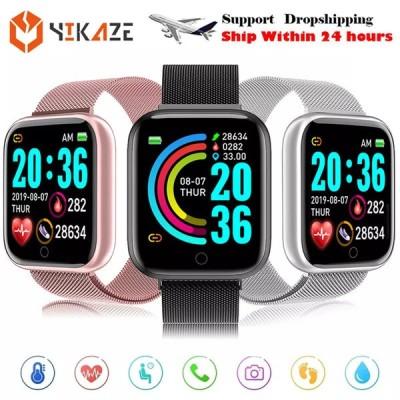 2021男性 女性 スマートウォッチD20プロ血圧モニタースポーツスマートウォッチフィットネストラッカーブレスレットスマート時計アンドロイドios用