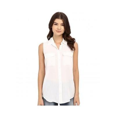 EQUIPMENT イクイップメント レディース 女性用 ファッション ブラウス Sleeveless Slim Signature Top - Bright White