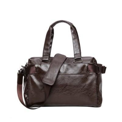 人気2wayバッグPUビジネスショルダーバッグパックメンズトートバッグ就職出張旅行カバン通勤多機能バッグ