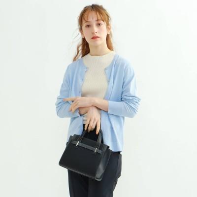インディヴィ INDIVI 【UVケア】クルーネックニットカーディガン (ライトブルー)