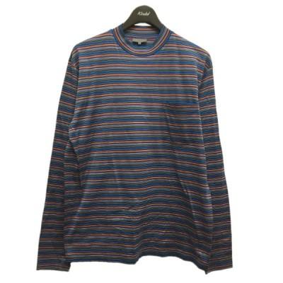 LANVIN 胸ポケットボーダーTシャツ ブルー サイズ:S (中目黒店) 210330