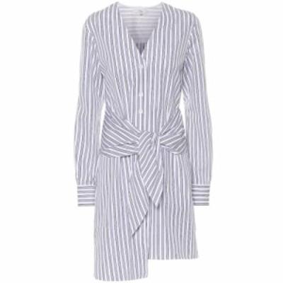 ティビ Tibi レディース ワンピース ワンピース・ドレス Pinstripe cotton dress Blue Multi
