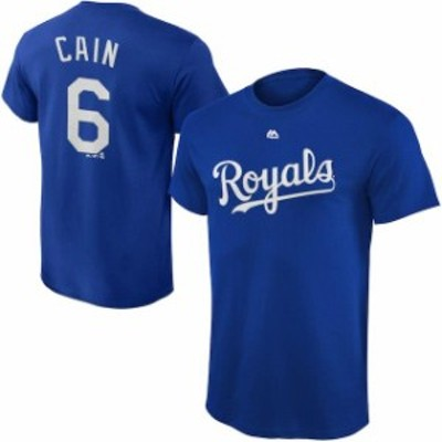 Majestic マジェスティック スポーツ用品  Majestic Lorenzo Cain Kansas City Royals Youth Royal Player Name & Number