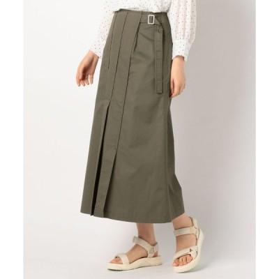 スカート アシメプリーツマキシスカート