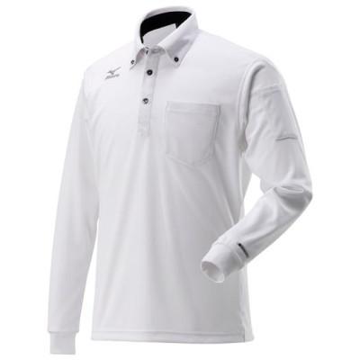 ミズノ ハイドロ銀チタンポロシャツ長袖[メンズ] 01ホワイト 2XL ウエア ハイネックシャツ 半袖 F2JA9185