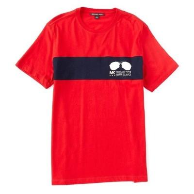 マイケルコース メンズ Tシャツ トップス Sport Aviator Short-Sleeve Tee Crimson