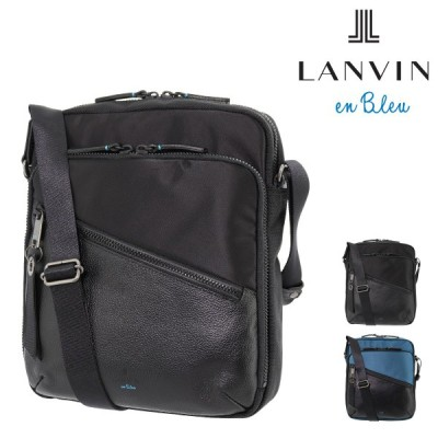 ランバンオンブルー ショルダーバッグ フェリックス メンズ 564122 日本製 LANVIN en Bleu | 軽量 コンパクト ナイロン 牛革 本革 レザー