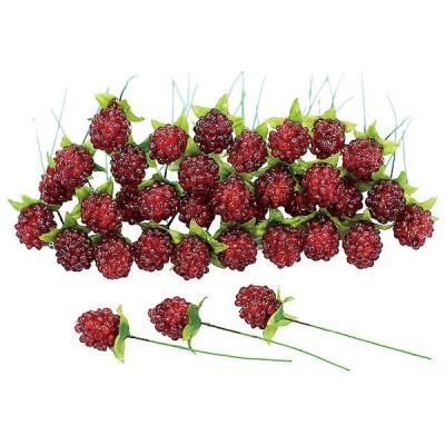 12個から注文可能!ラズベリーパーツ 36ケ/袋 RED 造花 花材 アートフラワー