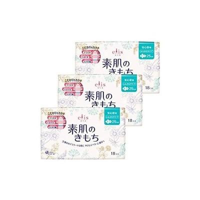 エリス 素肌のきもち スリム 羽つき (多い昼用) 18枚×3パック 【まとめ買い】