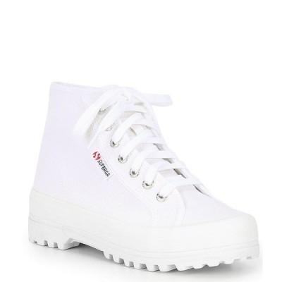 スペルガ レディース スニーカー シューズ 2341 Alpina COTU High Top Lace Up Sneakers White