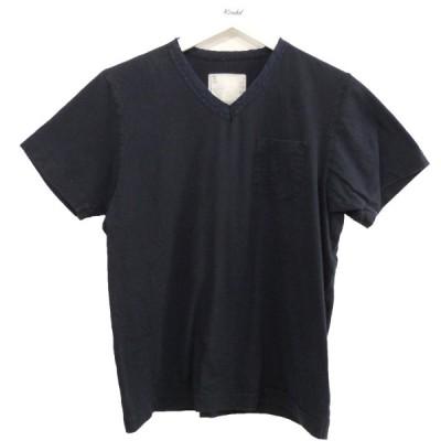 sacai ポケットTシャツ ネイビー サイズ:1 (原宿店) 210504