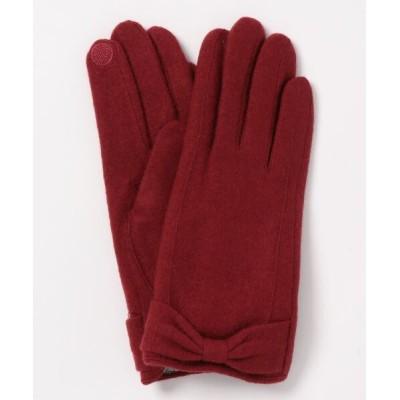INTERPLANET/actuel / リボンデザイングローブ WOMEN ファッション雑貨 > 手袋