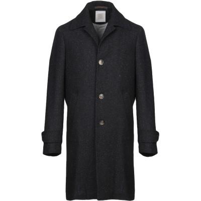 イレブンティ ELEVENTY コート ダークブルー 54 ウール 70% / シルク 25% / カシミヤ 5% コート