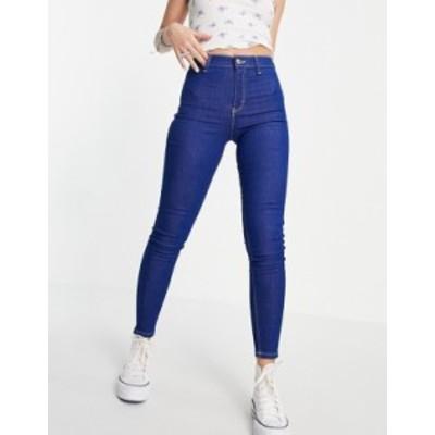 トップショップ レディース デニムパンツ ボトムス Topshop joni jeans in bright blue Blues
