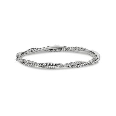 デイビット・ユーマン レディース ブレスレット・バングル・アンクレット アクセサリー Sterling Silver Petite Infinity Bracelet with Diamonds