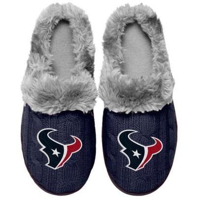フォーエバーコレクティブルズ レディース サンダル シューズ Houston Texans Women's Cable Knit Slide Slippers