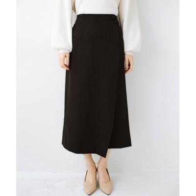 【ハコ】 いざというとき困らないための きちんと見えするラップスカート by que made me レディース ブラック S haco!