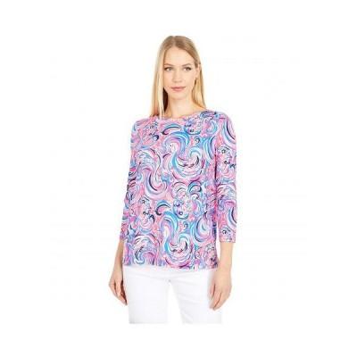 Lilly Pulitzer リリーピューリッツァー レディース 女性用 ファッション Tシャツ Ophelia Top - Raz Berry Flamingoals