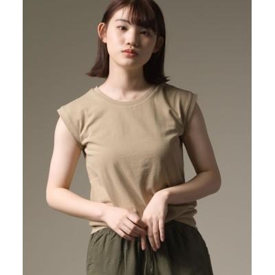 OMNES / 製品洗いコットン ノースリーブTシャツ WOMEN トップス > Tシャツ/カットソー