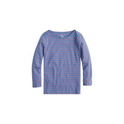 J.Crew Boatneck Painter T-Shirt in Stripe レディース シャツ トップス Blue Papaya Saybrook Stripe