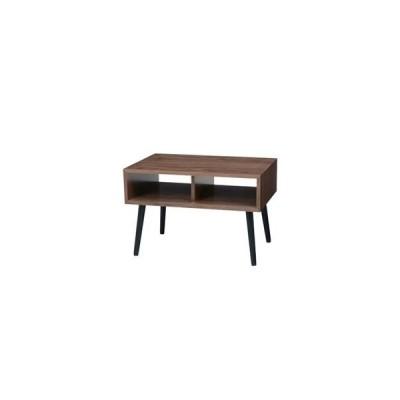 ds-2316733 北欧風 ローテーブル/センターテーブル 【ブラウン 幅60×奥行40×高さ40cm】 木製脚付き 組立式 〔リビング〕【代引不可】 (ds2316733)