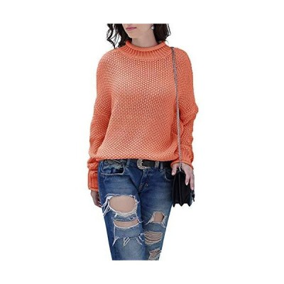 HZSONNE Women's Casual Turtleneck Batwing Sleeve Cable Knit Loose Fit Pullo
