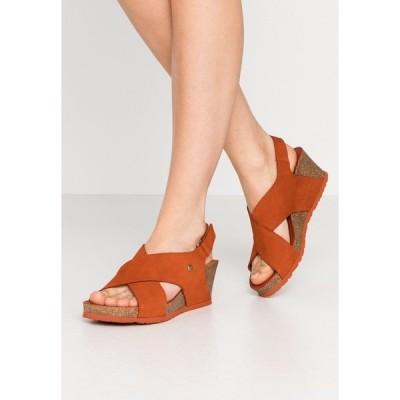 パナマ ジャック サンダル レディース シューズ VALESKA BASICS - Platform sandals - rostbraun