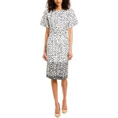 ダナキャラン レディース ワンピース トップス Donna Karan New York Sheath Dress ivory/black