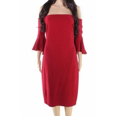 Laundry by Shelli Segal ランドリーバイシェルシーガル ファッション ドレス Laundry By Shelli Segal NEW Red Womens Size 0 Off Shoul
