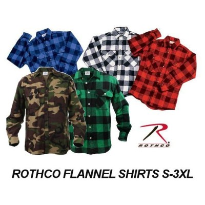ROTHCO ロスコ フランネルシャツ 5色 チェック柄 カモフラ
