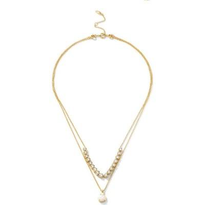 """エリオット ダノリ Eliot Danori ユニセックス ネックレス ジュエリー・アクセサリー Synthetic Opal Layer Necklace 16"""" + 2"""" extender and 17"""" Gold"""