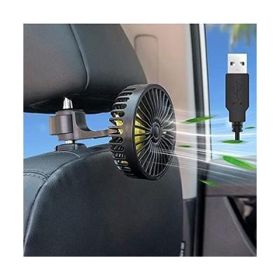 扇風機 車/卓上用 携帯扇風機 USB卓上扇風機 卓上手持ち扇風機 3段階風量調節 車載扇風機 前後部座席用 角度調節 360°回転 強風量