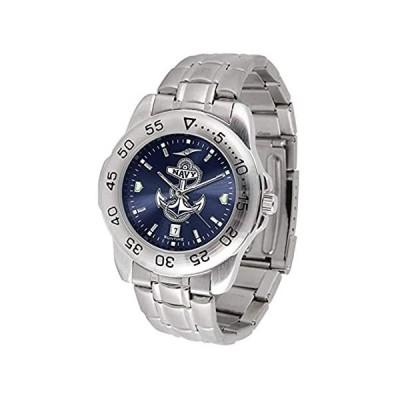 Navy MidshipmenスポーツスチールAnochromeメンズ腕時計